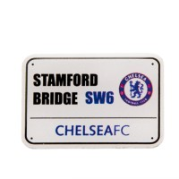 Chelsea F.C. prisegamas stadiono adreso ženklelis