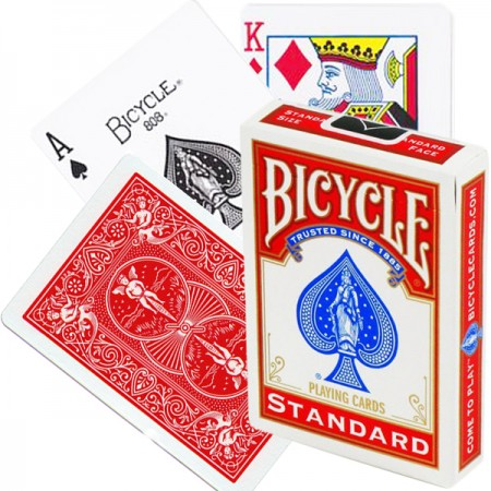 Bicycle Rider Standard pokerio kortos (Raudonos)