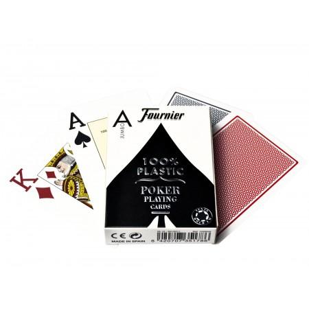 Fournier 2800 pokerio kortos (Mėlynos)
