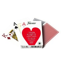 Fournier 2800 pokerio kortos (Raudonos)