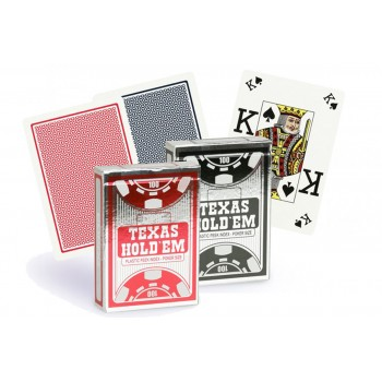 Copag Texas Hold'em Peek Index pokerio kortos (Juodos)