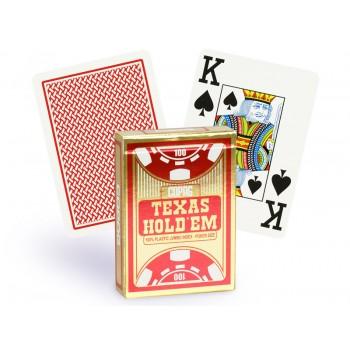 Copag Texas Hold'em dvi pokerio kortų kaladės (Raudonos ir juodos)