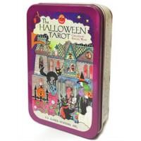 Taro kortos Halloween skardinėje dėžutėje