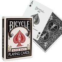 Bicycle Rider Standard pokerio kortos (Juodos)