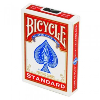 Bicycle Rider Standard keturios kortų kaladės (Juodos, raudonos)