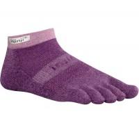 Injinji Trail 2.0 Midweight Micro-Crew penkių pirštų kojinės (Violetinės)