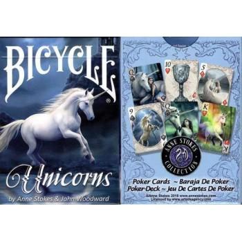 Bicycle Anne Stokes Unicorns kortos