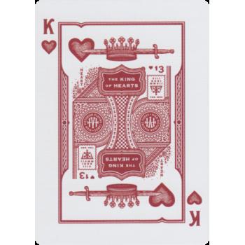 Theory11 High Victorian Kortos (Raudonos)