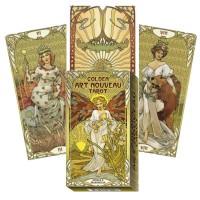 Golden Art Nouveau taro kortos