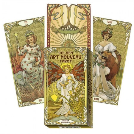 Golden Art Nouveau taro kortos