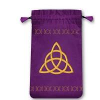 Triple Goddess velvetinis violetinis maišelis kortoms