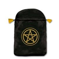 Pentacle satininis juodas maišelis kortoms