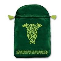 Celtic satininis žalias maišelis kortoms