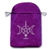 Sensual Wicca satininis violetinis maišelis kortoms