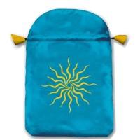 Sunlight satininis žydras maišelis kortoms