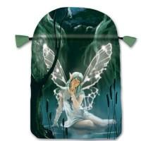 Fairy satininis daugiaspalvis maišelis kortoms