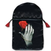 Rose Hand satininis maišelis kortoms