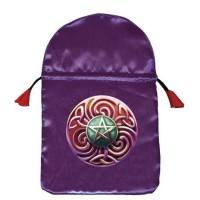 Magic Star satininis violetinis maišelis kortoms