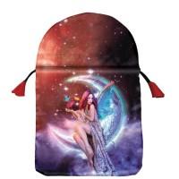 Moon Fairy satininis daugiaspalvis maišelis kortoms