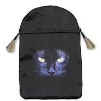 Black Cat satininis juodas maišelis kortoms