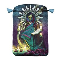 Santa Muerte satininis maišelis kortoms