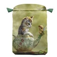 Fantasy Cats satininis daugiaspalvis maišelis kortoms