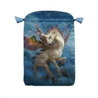 Unicorns satininis maišelis kortoms