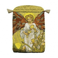 Art Nouveau satininis daugiaspalvis maišelis kortoms