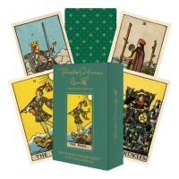 Smith-Waite Deluxe Gold Edition Tarot: Gilded kortos ir knyga