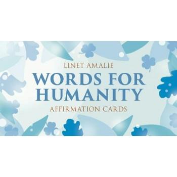 Words for Humanity afirmacijų kortos