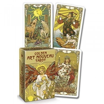 Golden Art Nouveau Tarot Mini kortos