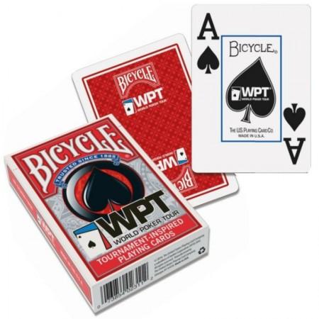 Bicycle WPT pokerio kortos (Raudonos)
