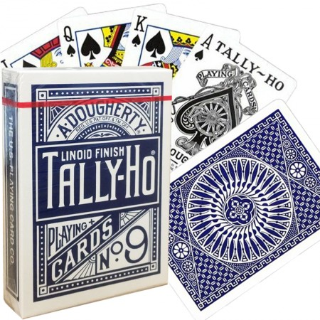Bicycle Tally-Ho Circle kortos (Mėlynos)