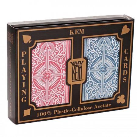 KEM Arrow dvi kortų kaladės specialioje pakuotėje