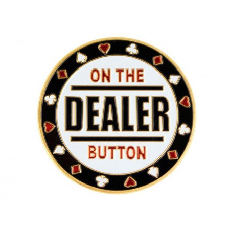 "Pokerio kortų saugas ""On the Dealer Button"""